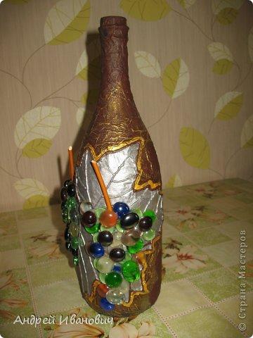 Декупаж бутылки фото 1