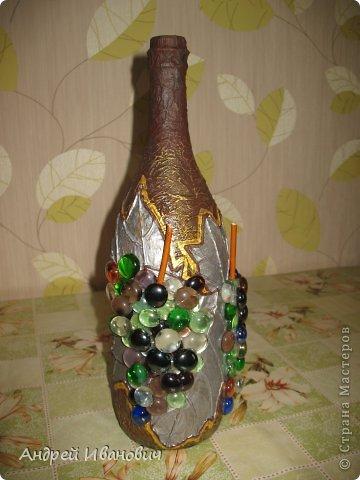 Декупаж бутылки фото 3