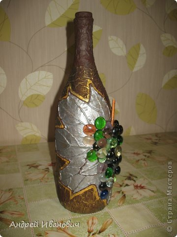 Декупаж бутылки фото 4