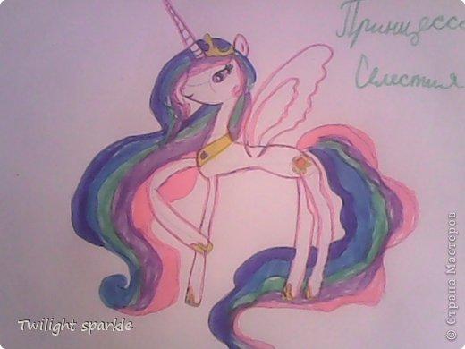 Budem risovatj princessu Selestiju. фото 8