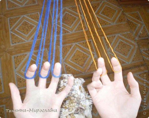 Плетение поясов дёрганьем