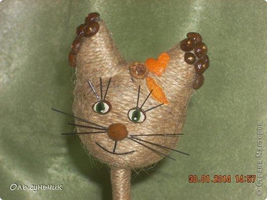 Кофейные коты из шпагата 201