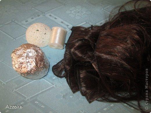 Кукольная жизнь Мастер-класс Вязание крючком Шитьё Дочь Луны и Солнца   или шикарный парик для БЖД Нитки фото 5