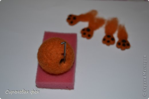 Игрушка Мастер-класс 8 марта Валентинов день День рождения Валяние фильцевание Кот Сердечный апельсин МК Пластика Шерсть фото 18