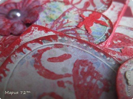"""АТС.Серия""""Валентинка"""" создана мною для обмена на карточки посвященные дню Св.Валентина. Карточки сделаны в виде открытки,все АТС объемные.Все карточки сделаны аккуратно.В работе была использована скрап-бумага (напечатанная),полубусины,цветочки (покупные), сердечки (напечатанные), атласная ленточка, ангелочки(дырокол),веточки(дырокол),надпись """"С Днем Святого Валентина"""" (напечатанная),вспененный скотч,штампы,акриловая краска. Все было напечатано на акварельной бумаге, основа открытки она же.  фото 14"""