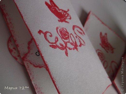 """АТС.Серия""""Валентинка"""" создана мною для обмена на карточки посвященные дню Св.Валентина. Карточки сделаны в виде открытки,все АТС объемные.Все карточки сделаны аккуратно.В работе была использована скрап-бумага (напечатанная),полубусины,цветочки (покупные), сердечки (напечатанные), атласная ленточка, ангелочки(дырокол),веточки(дырокол),надпись """"С Днем Святого Валентина"""" (напечатанная),вспененный скотч,штампы,акриловая краска. Все было напечатано на акварельной бумаге, основа открытки она же.  фото 8"""