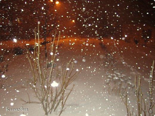 Как мы все просили у зимы снега! Все новогодние праздники прошли при +4 градусах. Какой там уж снег... Но как говорят - бойся желаний, могут исполнится. Практически за 2-3 дня температура за окном упала до 20-23 мороза!!! За сутки до катаклизма выпал снег. Нет, не так - ВЫПАЛ СНЕГ. Если я на ошибаюсь, то такая погода в моем родном Днепропетровске была лет 15-20 назад. Как и полагается порядочному катаклизму он подкрался в самое тихое время - ночью. Проснувшись утром, люди попали из лета в суровую зиму. Чтобы пойти на работу, пришлось сначала в 4:30 утра идти откапывать подъезд. Тихо падает снежок))) фото 2