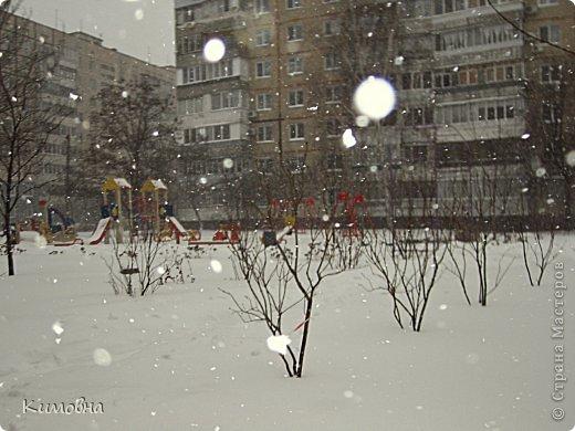 Как мы все просили у зимы снега! Все новогодние праздники прошли при +4 градусах. Какой там уж снег... Но как говорят - бойся желаний, могут исполнится. Практически за 2-3 дня температура за окном упала до 20-23 мороза!!! За сутки до катаклизма выпал снег. Нет, не так - ВЫПАЛ СНЕГ. Если я на ошибаюсь, то такая погода в моем родном Днепропетровске была лет 15-20 назад. Как и полагается порядочному катаклизму он подкрался в самое тихое время - ночью. Проснувшись утром, люди попали из лета в суровую зиму. Чтобы пойти на работу, пришлось сначала в 4:30 утра идти откапывать подъезд. Тихо падает снежок))) фото 7