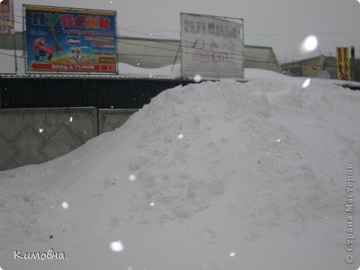 Как мы все просили у зимы снега! Все новогодние праздники прошли при +4 градусах. Какой там уж снег... Но как говорят - бойся желаний, могут исполнится. Практически за 2-3 дня температура за окном упала до 20-23 мороза!!! За сутки до катаклизма выпал снег. Нет, не так - ВЫПАЛ СНЕГ. Если я на ошибаюсь, то такая погода в моем родном Днепропетровске была лет 15-20 назад. Как и полагается порядочному катаклизму он подкрался в самое тихое время - ночью. Проснувшись утром, люди попали из лета в суровую зиму. Чтобы пойти на работу, пришлось сначала в 4:30 утра идти откапывать подъезд. Тихо падает снежок))) фото 13