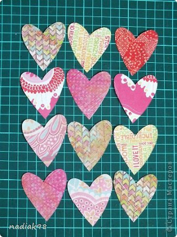 Мастер-класс Скрапбукинг Валентинов день Аппликация Валентинки или как я готовлюсь к празднику Бумага Картон Клей фото 5