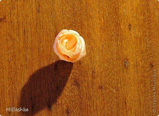 Мастер-класс Украшение Цумами Канзаши МК Пышная роза или Роза для ленивых Бусинки Картон Клей Ленты Фетр фото 13