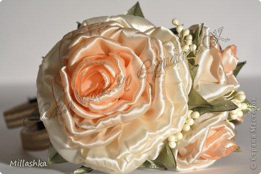 """Сегодня хочу показать вам, дорогие жители СМ, МК """"Пышная роза"""" или, как называю ее я, """"Роза для ленивых"""". Спросите: """"Почему для ленивых?"""". Отвечу: """"Да потому-что проще некуда!Быстро и ооочень красиво!"""" фото 1"""