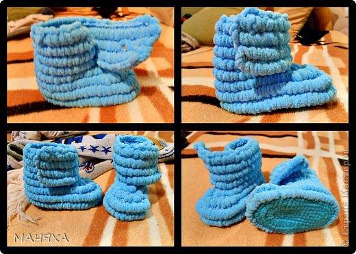 Гардероб Мастер-класс Вязание крючком МК пинетки Пряжа фото 9