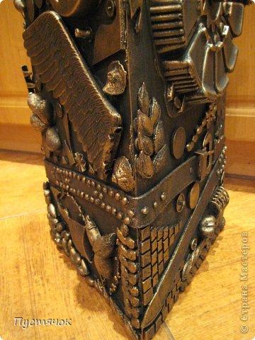 Мастер-класс Поделка изделие 8 марта Ассамбляж Напольная ваза  Клей Краска Материал бросовый Материал природный фото 31