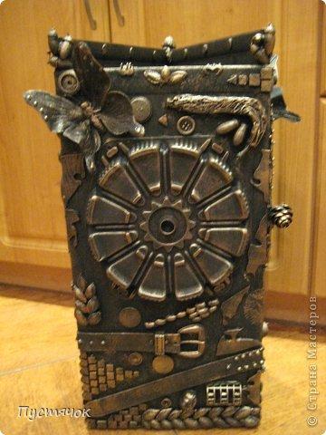 Мастер-класс Поделка изделие 8 марта Ассамбляж Напольная ваза  Клей Краска Материал бросовый Материал природный фото 32
