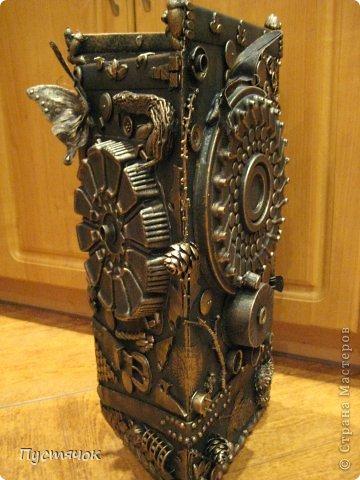 Мастер-класс Поделка изделие 8 марта Ассамбляж Напольная ваза  Клей Краска Материал бросовый Материал природный фото 35
