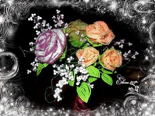 Букетик роз 3