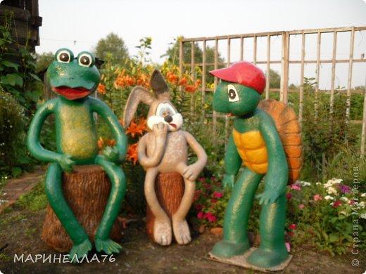 """Приветствую всех жителей """"Страны мастеров"""". Изначально хочу сказать всем спасибо за то,что многому меня научили. Я живу в частном доме, имею большой сад, и мне очень хотелось дополнить его садовыми скульптурами. Но так, как в магазинах они дорогие, я решила сделать их сама...Некоторые идеи брала с интернета. фото 1"""