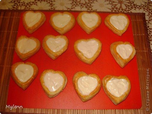 Кулинария Мастер-класс Валентинов день Рецепт кулинарный Ideas for Valentine's Day №2 Сердечки из слоёного теста Продукты пищевые фото 13