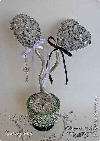 Шарики 8 см декорированы мелкой фасолью в два слоя фото 4