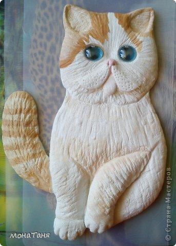 Здравствуйте!!! Уж очень мне понравилась экзотическая короткошерстная порода кошек. Лепила котёнка из ХФ по фото любимчика интернета котёнка Снупи из Китая.  фото 2