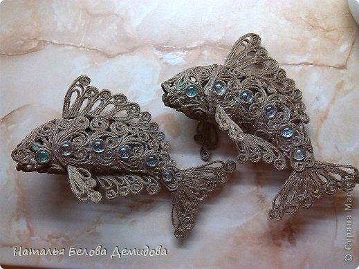 Джутовая филигрань. Рыбки. | Страна Мастеров Конкурсы на День Рождения для Взрослых