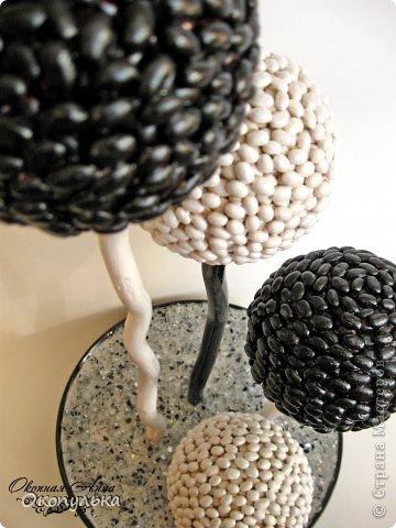 Шарики 8 см декорированы мелкой фасолью в два слоя фото 2