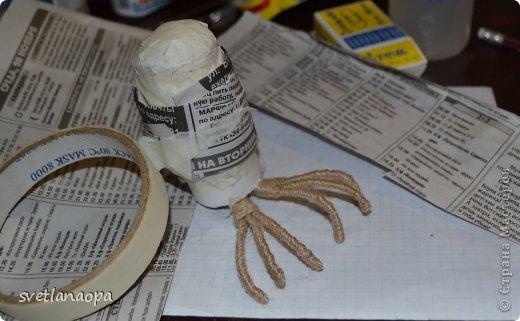 Мастер-класс Поделка изделие Моделирование конструирование МК сова из шпагата Шпагат фото 15
