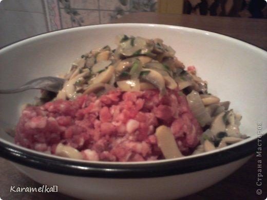 Доброго времени суток! Сегодня я предлагаю вам приготовить очень вкусные стожки. Нам понадобится: 1.) репчатый лук 2.) зеленый лук(по желанию) 3.) грибы 4.) фарш 5.) картофель 6.) сыр 7.) майонез. 8.) соль и перец (по вкусу) И так начнем: фото 3