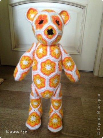 крючком Цветочный медведь