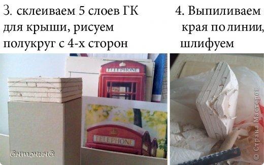 Мастер-класс Поделка изделие Моделирование конструирование Чайный домик из гипсокартона + мини МК фото 11