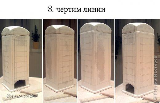 Мастер-класс Поделка изделие Моделирование конструирование Чайный домик из гипсокартона + мини МК фото 14