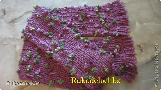 Видео Мастер-класс Вязание Вязание спицами Двойная шапочка для девочки ВИДЕО пряжа ALIZE Flower Пряжа фото 2