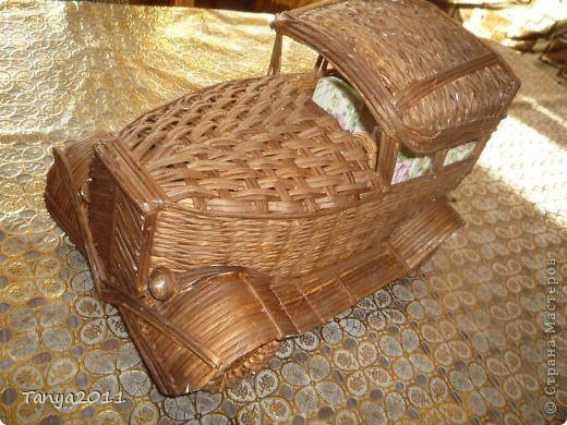 Мастер-класс Плетение Ехали мы ехали  Учимся плести крышу автомобиля Бумажные полосы фото 24
