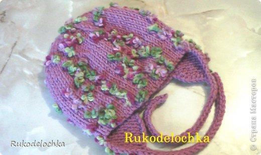 Видео Мастер-класс Вязание Вязание спицами Двойная шапочка для девочки ВИДЕО пряжа ALIZE Flower Пряжа фото 1