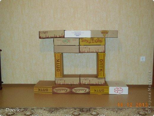 Сделать камин из коробок своими руками видео