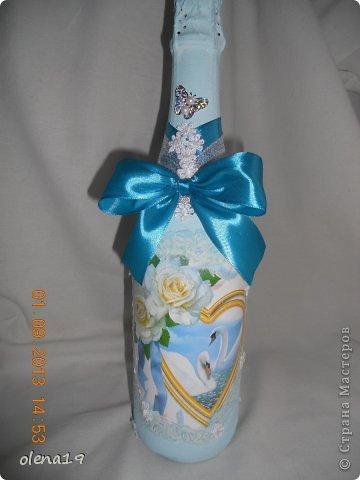 Набор для друзей к годовщине свадьбы.  Бутылочку не показывала, а тортик здесь https://stranamasterov.ru/node/625590. фото 2