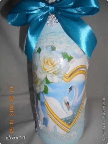 Набор для друзей к годовщине свадьбы.  Бутылочку не показывала, а тортик здесь https://stranamasterov.ru/node/625590. фото 3