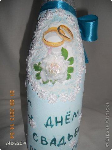 Набор для друзей к годовщине свадьбы.  Бутылочку не показывала, а тортик здесь https://stranamasterov.ru/node/625590. фото 4