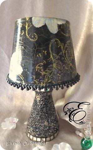 Настольная лампа,,Белые анемоны,, фото 2