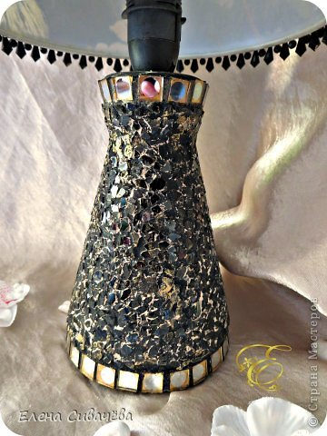 Настольная лампа,,Белые анемоны,, фото 3