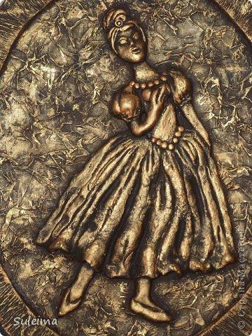 Картина панно рисунок Мастер-класс Лепка Панно под бронзу соленое тесто Тесто соленое фото 26