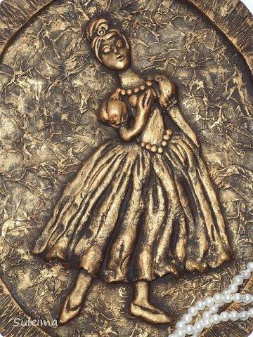 Картина панно рисунок Мастер-класс Лепка Панно под бронзу соленое тесто Тесто соленое фото 1