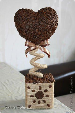 Кофейные топиарии своими руками фото