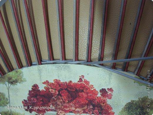 Поделка изделие Декупаж Плетение Постигаем новое подсказки Картон Салфетки Трубочки бумажные фото 7