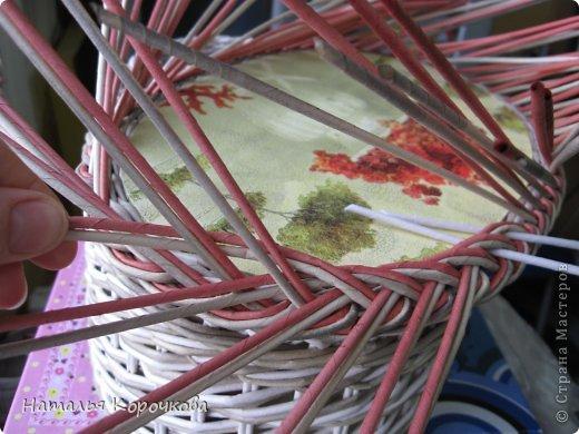 Поделка изделие Декупаж Плетение Постигаем новое подсказки Картон Салфетки Трубочки бумажные фото 12
