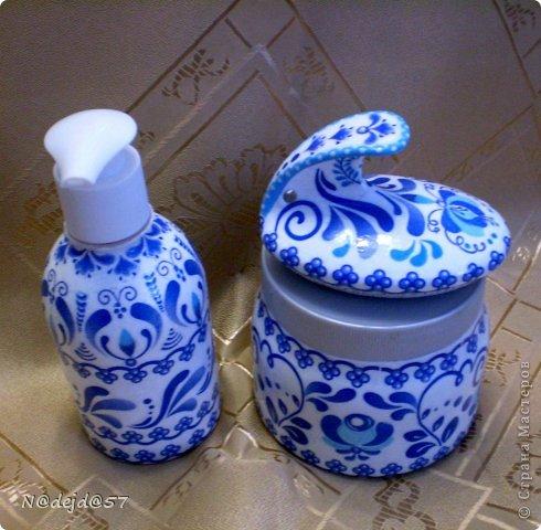 Вот новые работы делала себе в Ванную комнату.  Здесь дозатор для жид. мыла, соль для ванны и терочка для пяточек. Здесь мои первые работы для ванной https://stranamasterov.ru/node/705458. фото 21