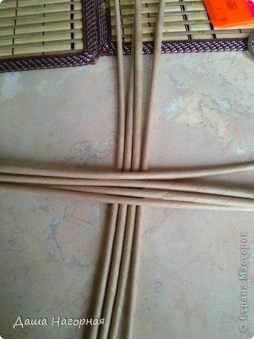 Мастер-класс Поделка изделие Плетение МК чашки Бумага газетная Трубочки бумажные фото 4