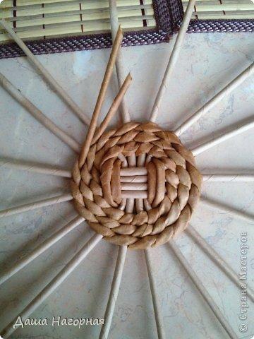 Мастер-класс Поделка изделие Плетение МК чашки Бумага газетная Трубочки бумажные фото 7