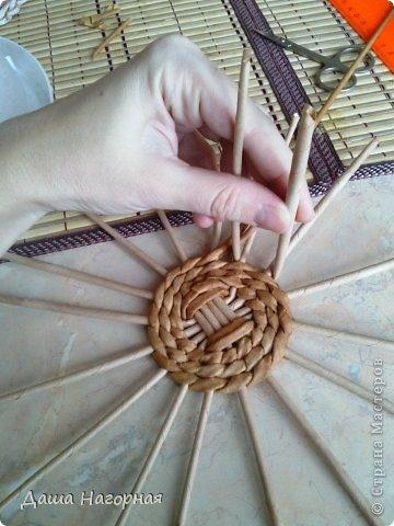 Мастер-класс Поделка изделие Плетение МК чашки Бумага газетная Трубочки бумажные фото 9